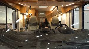 luxury caravan helsinki finland november 22 2017 the interior of the