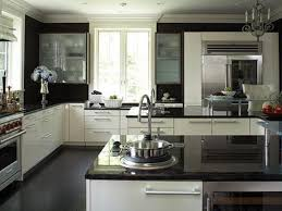 Small Black And White Kitchen Ideas Kitchen With Black And White Cabinets With Ideas Photo Oepsym