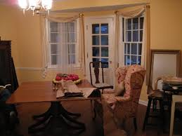 wing chairs as dining chairs anyone