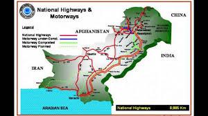 world map pakistan karachi national highways motorways pakistan map