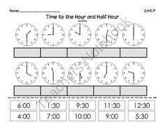 clock worksheets telling time to nearest half hour worksheet