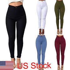 black high waisted pants ebay