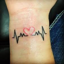 afbeeldingsresultaat voor tattoo heart heartbeat ink me