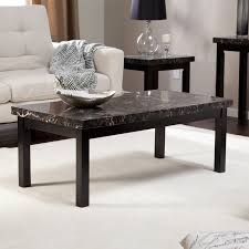 carmine faux marble coffee table hayneedle