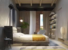 chambre color馥 adulte interior design styles for small apartment exposed concrete