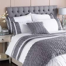 bed runners runners gray riva home macy pleated pocket matt satin bed runner