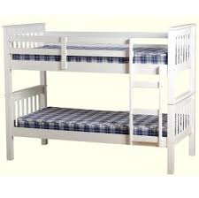 Neptune Solid Wood Bunk Bed White Splits Into  Single Bedframes - Solid wood bunk bed