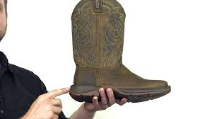 pull on motorcycle boots rebel by durango pull on western boot style db4443 youtube