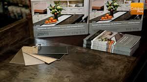 comptoir ciment cuisine enduit cimentaire pour comptoir effet béton colobar