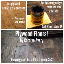 Inexpensive Flooring Ideas Plywood Floors I Installed In My 8x12 Cabin Such A Cheap Floor