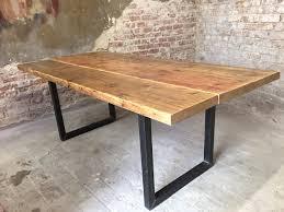 ikea garten tisch aus einer eichenholz arbeitsplatte einen rustikalen loft tisch