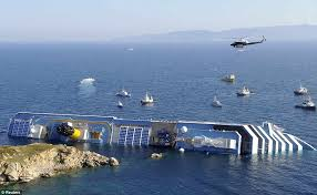 List Of Ship Sinkings by Costa Concordia Accident Pictures Of Cruise Ship Sinking Off