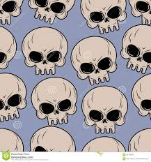 Halloween Skeleton Pattern by Skull Seamless Background Many Skulls Pattern Stock Photo