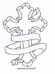 cross tattoo design with