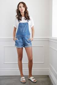 forever 21 jumpsuits distressed denim overall shorts forever 21 bloom showroom