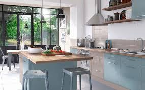cuisine bleu ciel inspirations déco pour une cuisine bleue joli place