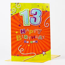 giant 13th birthday card happy birthday to you only 99p