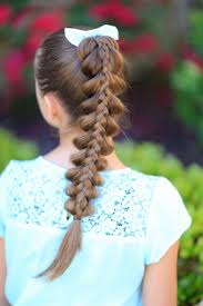 stacked pull through braid cute girls hairstyles cute girls