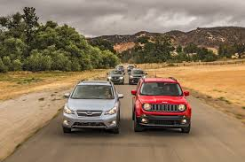 jeep renegade slammed the big test 2015 2016 subcompact crossovers comparison motor