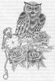 grey owl tattoo sketch photos pictures and sketches tattoo