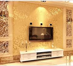 free shipping 1pcs classic pvc paper back vinyl wallpapers gold