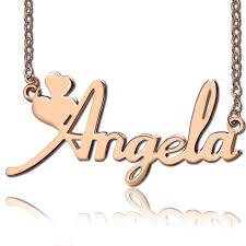 girls gold necklace images Personalized girls name necklace rose gold jpg