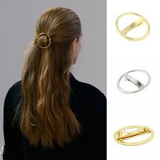 hair barrette online get cheap circle hair barrette gold aliexpress