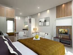 dazzling single bedroom apartment interior design ceiling recessed