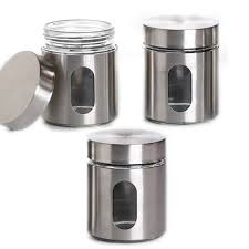 kitchen canister sets stainless steel 3 stainless steel canister set 3 5 x 4 5 with