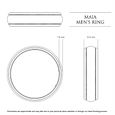 mens wedding ring sizes maia men s wedding band in platinum 950 au