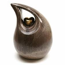 heart urn glass ceramic urns tears in my heart urn