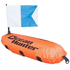 Padi Flag Ocean Hunter Inflatable Torpedo Float With Line And Alpha Flag