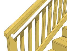 How To Build A Banister For Stairs Decks Com Deck Stair Handrails