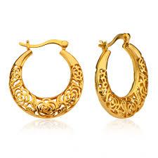 saudi arabia gold earrings beautiful women drop earrings luxury gold plated india jewelry