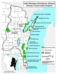 Door County Wisconsin Map by Mapping The Lake Michigan Basin Lake Michigan Shorelands