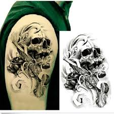 Skull Arm - 3d skull arm temporary sticker waterproof removable