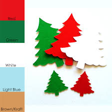 25 pack paper christmas tree tree shapes paper tree cut out