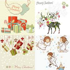 decorative christmas cards vector part 2 vector graphics blog