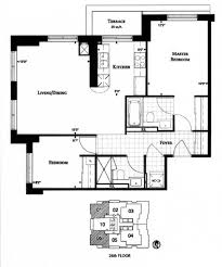 2 Bedroom Condo Floor Plan Uptown Condominiums 35 Balmuto Street Yorkville Toronto 2 Bedrooms