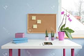 wall inspiring wall decoration with cork board wall and blue wall