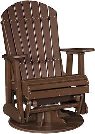 Glider Chair Luxcraft Poly 2ft Swivel Adirondack Style Glider Chair Swingsets