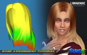 sims 4 blue hair lunararc sims hair bone assignment for the sims 4