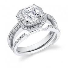 engagement ring and wedding band set 63 best asscher cut engagement rings images on asscher
