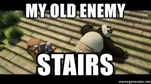 Meme Fu - my old enemy stairs kung fu panda stairs meme generator