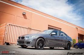 matte black bmw 328i m sport f30 bmw 328i on forgestar f14 matte black wheels