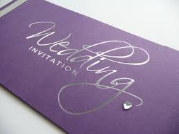 purple and silver wedding invitations purple silver foiled cheque book wedding invitation with silver