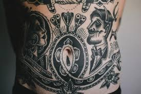 original stomach tattoos
