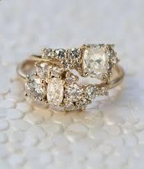 custom cluster v shaped ring bario neal home bario neal cluster ring diamond and ring