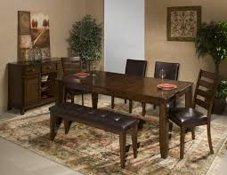 dining room tables for 6 6 piece dining room set with parson u0027s and ladder back side chairs