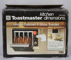 Usa Made Toaster Vtg New Toastmaster Under Cabinet 4 Slice Toaster 785 Kitchen